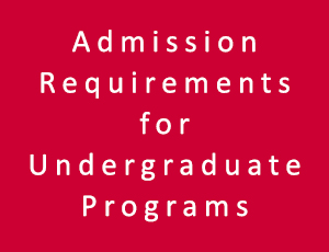 Admission Requirements for Undergraduate Programs